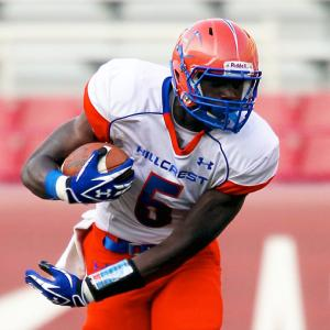High School:  Hillcrest (Mo.)  Height:  6-6  Weight:  220 Perhaps the most accomplished wideout in high school history, Green-Beckham amassed 6,447 career receiving yards, a new national record. He lived up to the billing in the U.S. Army All-American Bowl: He made a one-handed, 79-yard touchdown reception on 3rd-and-38 in the West's 24-12 victory. He committed to Missouri over Arkansas, Texas and Oklahoma on Signing Day.