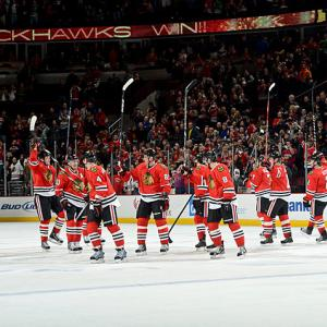 Earning a point in their game against San Jose on Feb. 22 would give the Blackhawks a new NHL record for best start, breaking the one set by the Anaheim Ducks during their 2006-07 Stanley Cup-winning campaign. The Hawks opened the lockout-shortened 48-game 2013 season 13-0-3 (29 points) with only shootout losses to Minnesota (Jan. 30), Vancouver (Feb. 1) and the Ducks (Feb. 12) before going for the mark against the Sharks.