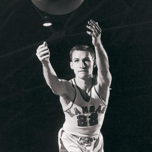 Kansas doesn't just produce great players -- they churn out more than their fair share of coaches, too. Here, legendary North Carolina coach Dean Smith is shown in his Jayhawks jersey. Other notable coaches with Kansas ties include Roy Williams, Bill Self, Larry Brown, Adolph Rupp and