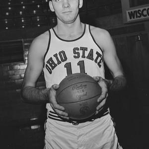 A native of Middletown, Ohio, Jerry Lucas chose to attend Ohio State on an academic scholarship. The 6-foot-8 power forward had twice been named Mr. Basketball USA, an award handed to the nation's best high school basketball player. In 1959-60, his sophomore year at OSU, Lucas led the team to the national championship. Among the reserves on that squad was future Hall of Fame coach Bobby Knight.