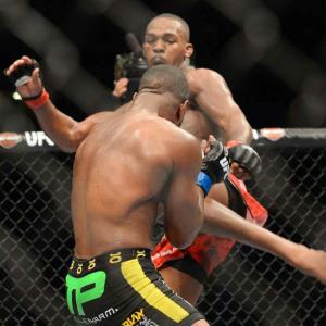 In one of the most anticipated championship fights in UFC history, Jon Jones (kicking) defended his light heavyweight title with a unanimous decision victory over Rashad Evans at UFC 145 in Atlanta. Jones called the win over his former training partner