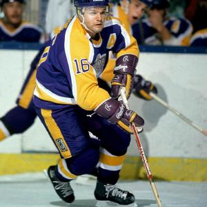 Marcel Dionne may be the best NHL player who never won Lord Stanley's Cup. After arriving from Detroit in a 1971 trade, he spent 12 seasons with the Kings, compiling 550 goals and 757 assists for 1,307 points, good for the top spot on the franchise's all-time scoring list. With wingers Charlie Simmer and Dave Taylor, the eight-time All-Star was the backbone of the famed