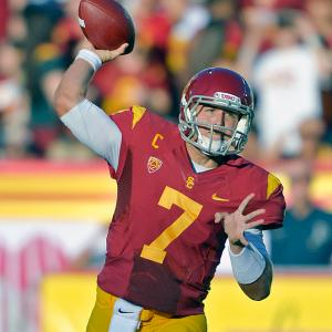 Matt Barkley kicked off his Heisman Trophy campaign with 372 yards passing and four touchdowns as the Trojans cruised in their season opener. Hayes Pullard returned an interception 27 yards for a first-quarter score for USC, which outgained Hawaii 481-264.