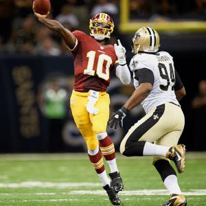 Washington's Robert Griffin III became first QB born in 1990s to start an NFL game.