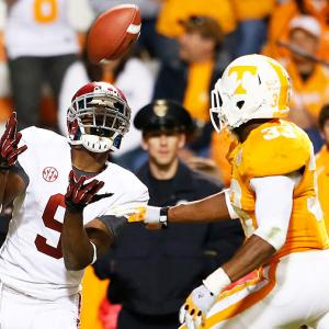The third Saturday in October was also Derek Dooley's third loss to Alabama. The No. 1 Crimson Tide easily knocked off the Volunteers, as AJ McCarron threw four touchdown passes, including two to wideout Amari Cooper (pictured). Alabama has beaten Tennessee six consecutive times.
