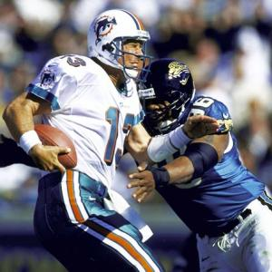 The 1999 season remained the best in Jacksonville history. The team lost only three games (all of which were to the Titans, including the AFC Championship Game) and strung together a 11-game winning streak, which remains a franchise record. The dominance of the team was demonstrated in the AFC Divisional Playoffs against Dan Marino and the Miami Dolphins. It would be the last game of Marino's career, as the Jaguars throttled the Dolphins 62-7 in Jacksonville. The Jags had four touchdowns go for 38 yards or more, including scoring runs of 90 and 39 yards from Fred Taylor. The Jaguars played backup quarterback Jay Fiedler in the second half, who threw for two long touchdowns in the third quarter. Fiedler would leave the Jaguars for Miami the next year to become Marino's successor.