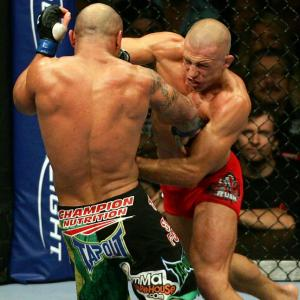 Georges St-Pierre  is the UFC welterweight champion and has a 22-2 career record in MMA.