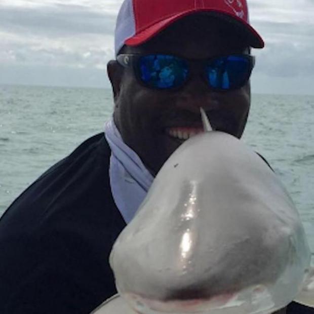 Warren Sapp bitten by shark while lobstering
