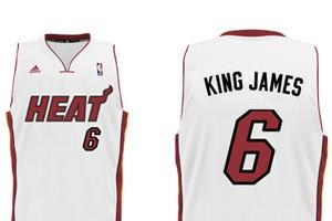 Heat unveil 'nickname jerseys' for LeBron James, Dwyane...