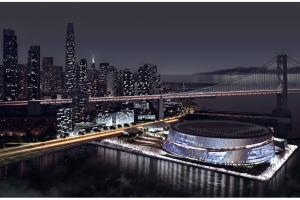 Planned San Francisco bayside arena for Golden State Wa...