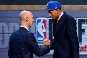 Adam Silver called Isaiah Austin onto the NBA draft stage on Thursday night.