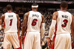 Chris Bosh, LeBron James, Dwyane Wade