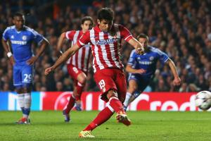 Diego Costa helped Atletico Madrid oust Chelsea from the Champions League with his semifinal penalty kick. He'll join the Blues this coming season with eyes on leading them instead.