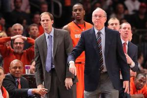 Jim Boeheim and Mike Hopkins