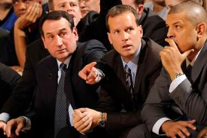 Mike Krzyzewski and Chris Collins