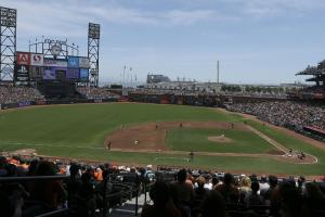 AT&T Park in San Francisco was the scene of a fight that sent one woman to the hospital.