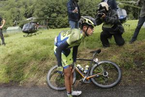 Two-time Tour de France champion Alberto Contador withd...