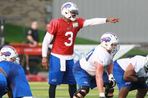 EJ Manuel, Sammy Watkins during Bills training camp