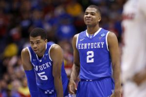 Aaron (5) and Andrew (2) Harrison and Kentucky will take on Kansas in ESPN's College Hoops Tip-Off Marathon in November.