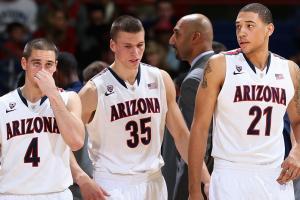 T.J. McConnell, Kaleb Tarczewski and Brandon Ashley