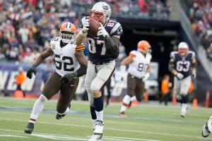 Rob Gronkowski during a 2013 game against the Browns