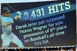 New York Yankees Derek Jeter passes Honus Wagner