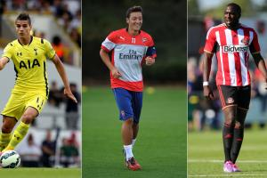 From left, Erik Lamela, Mesut Ozil and Jozy Altidore: Three players with points to prove in the 2014-2015 Premier League campaign.