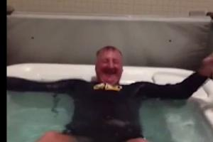 Indiana Pacers' president Larry Bird took the ice bucket challenge