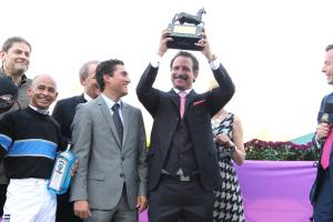 Sports talk show host and horse owner Jim Rome is hoping for more Breeders' Cup success in 2014 with Shared Belief.