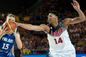 USA Basketball forced 31 turnovers en route to a 114-55 rout of Finland in its FIBA World Cup opener.
