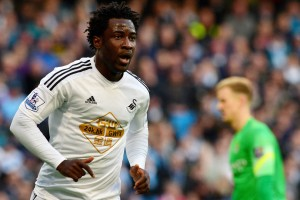 After scoring on Manchester City earlier in the season, Wilfried Bony will look to aid the Citizens down the stretch.