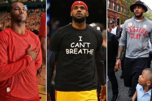Chris Paul, LeBron James, Carmelo Anthony