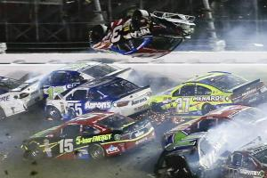 Five fans suffer minor injuries after last lap crash at...