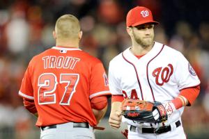 Mike Trout and Bryce Harper headline MLB's All-Star Game starters.