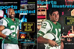 Sports Illustrated cover Darrelle Revis Joe Namath