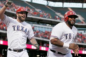 Mike Napoli Prince Fielder Rangers