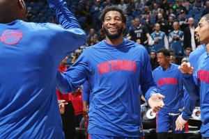 Andre Drummond Detroit Pistons project to pillar