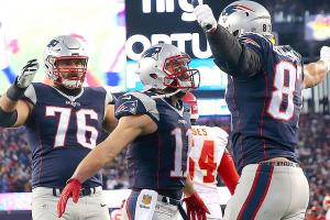 NFL playoffs: Julian Edelman, Rob Gronkowski lift Patriots to 27–20 win over Chiefs