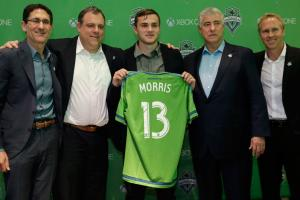 Jordan Morris signed with the Seattle Sounders on Thursday.