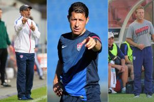 U.S. Soccer youth coaches Omid Namazi, Tab Ramos, John Hackworth