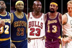 Magic Johnson, LeBron James, Michael Jordan, Wilt Chamberlain, Larry Bird