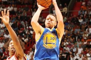 Stephen Curry Golden State Warriors Miami Heat three-pointer video