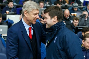 Arsene Wenger and Mauricio Pochettino will meet on the touchline again when Arsenal faces Tottenham in the North London derby