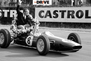 Formula One legends Colin Chapman and Jim Clark