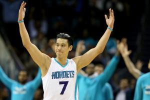Charlotte Hornets Jeremy Lin and Nelly featured on a T-shirt