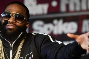 adrien broner felony charges assault robbery title fight