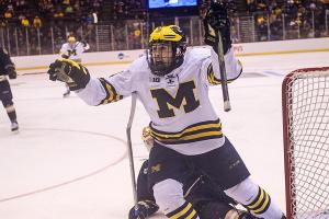 NCAA men's hockey tournament: Michigan beats Notre Dame