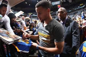 Stephen Curry and Ralph Walker
