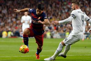 Luis Suarez and Barcelona take on Sergio Ramos and Real Madrid in the next Clasico