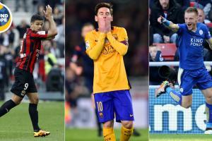 Hatem Ben Arfa, Lionel Messi and Jamie Vardy